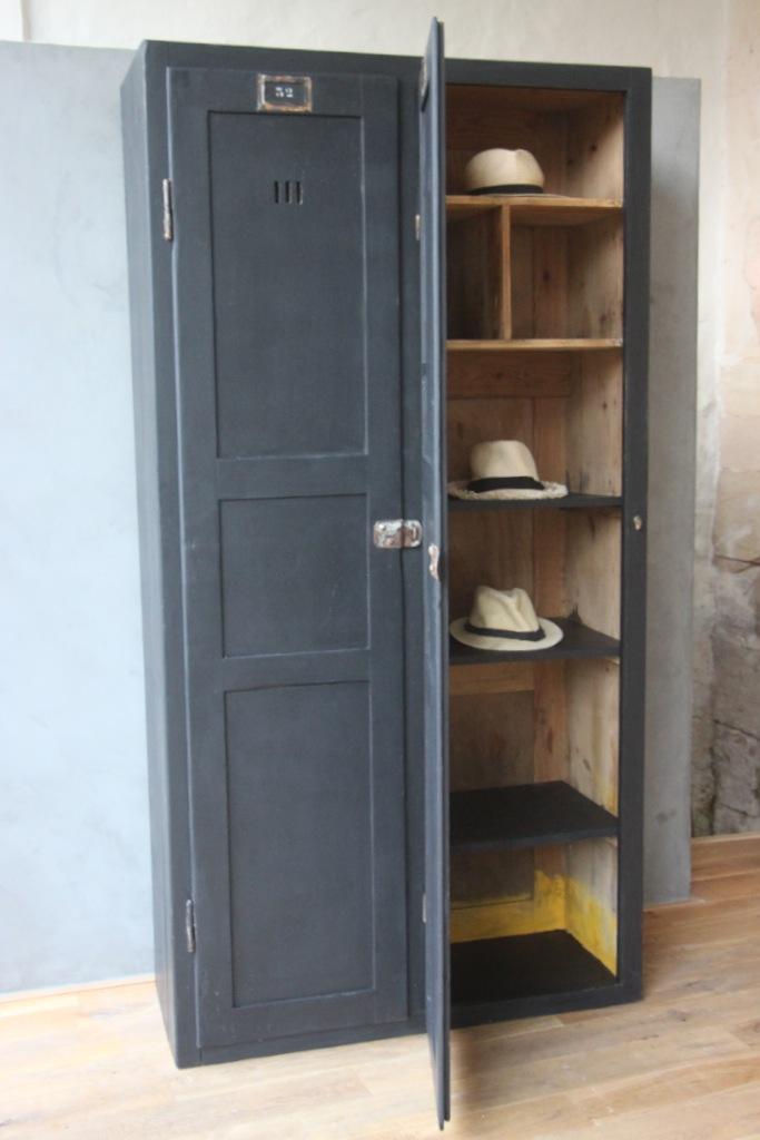 valentine l armoire double style indus petite belette. Black Bedroom Furniture Sets. Home Design Ideas