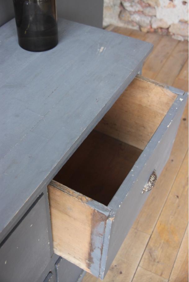 Meuble de metier 4 grands tiroirs petite belette for Meuble de metier a tiroir